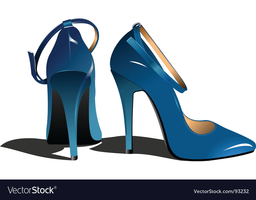 Womans shoes vector