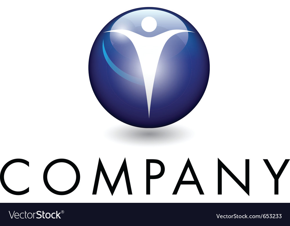 Beautiful corporate emblem vector
