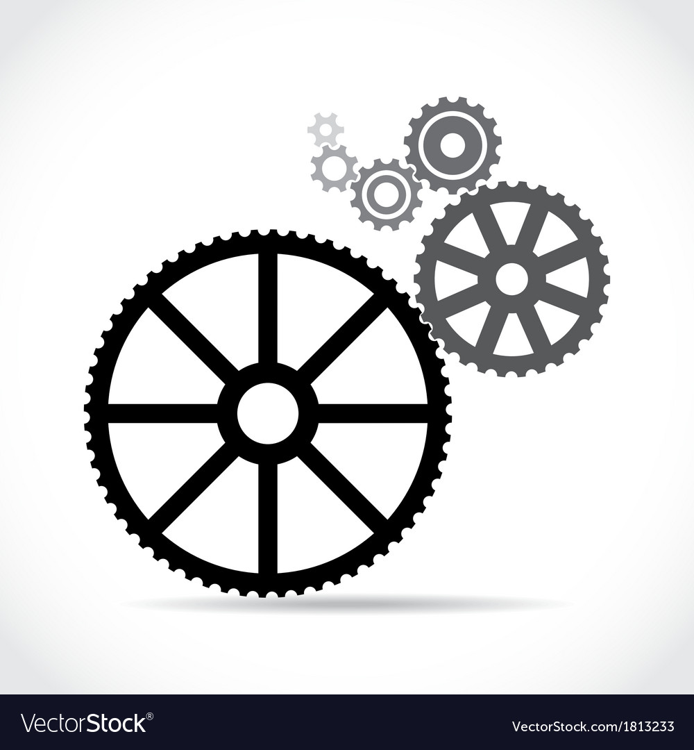 Black cogs vector