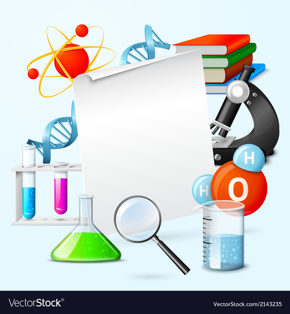 Science realistic frame vector