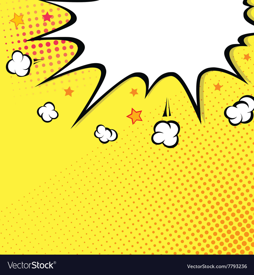Boom comic book explosion on top background vector