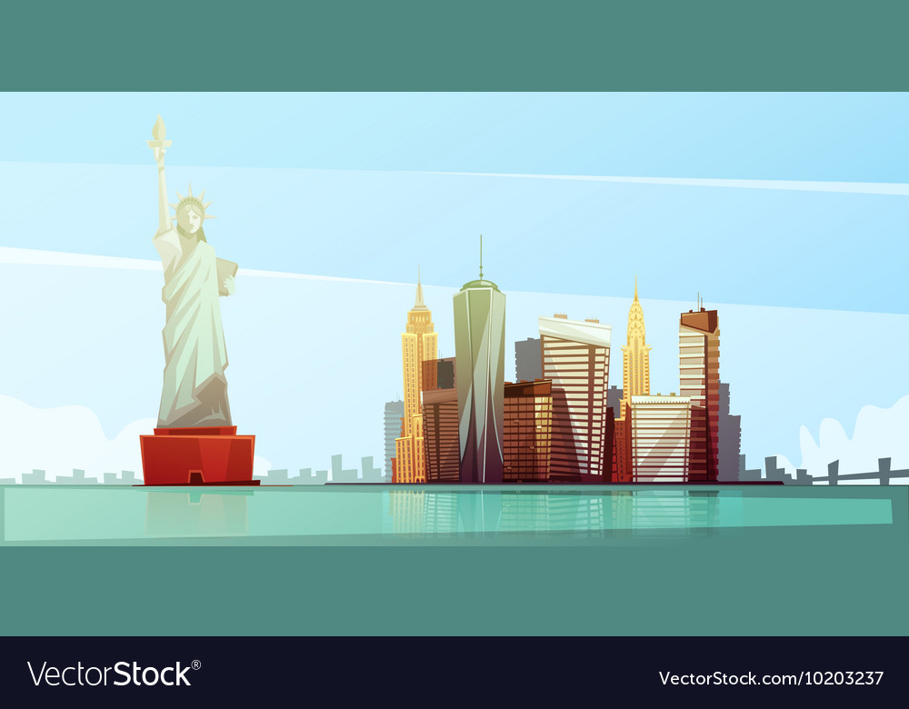 New york skyline design concept vector