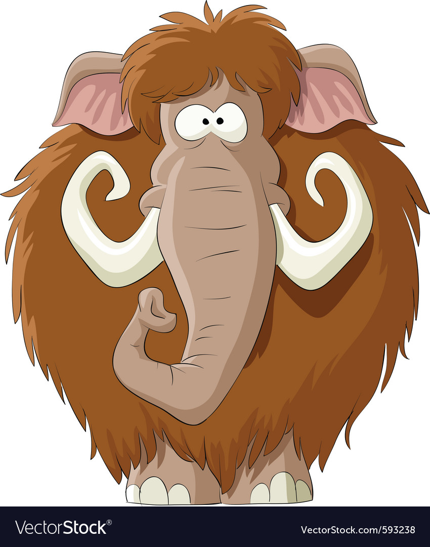 Cartoon mammoth vector