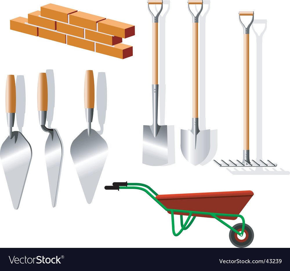 Building implements vector