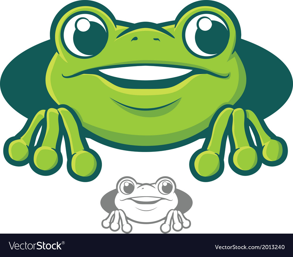 Frog character icon vector