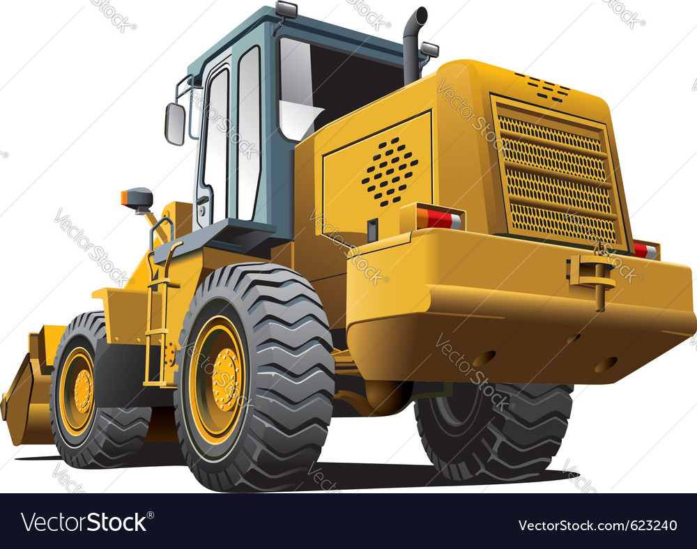 Front end loader vector