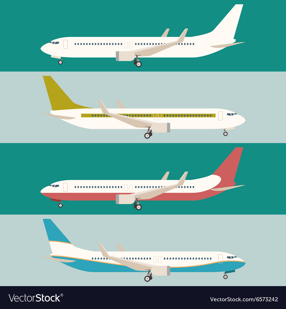 Flat set of planes vector