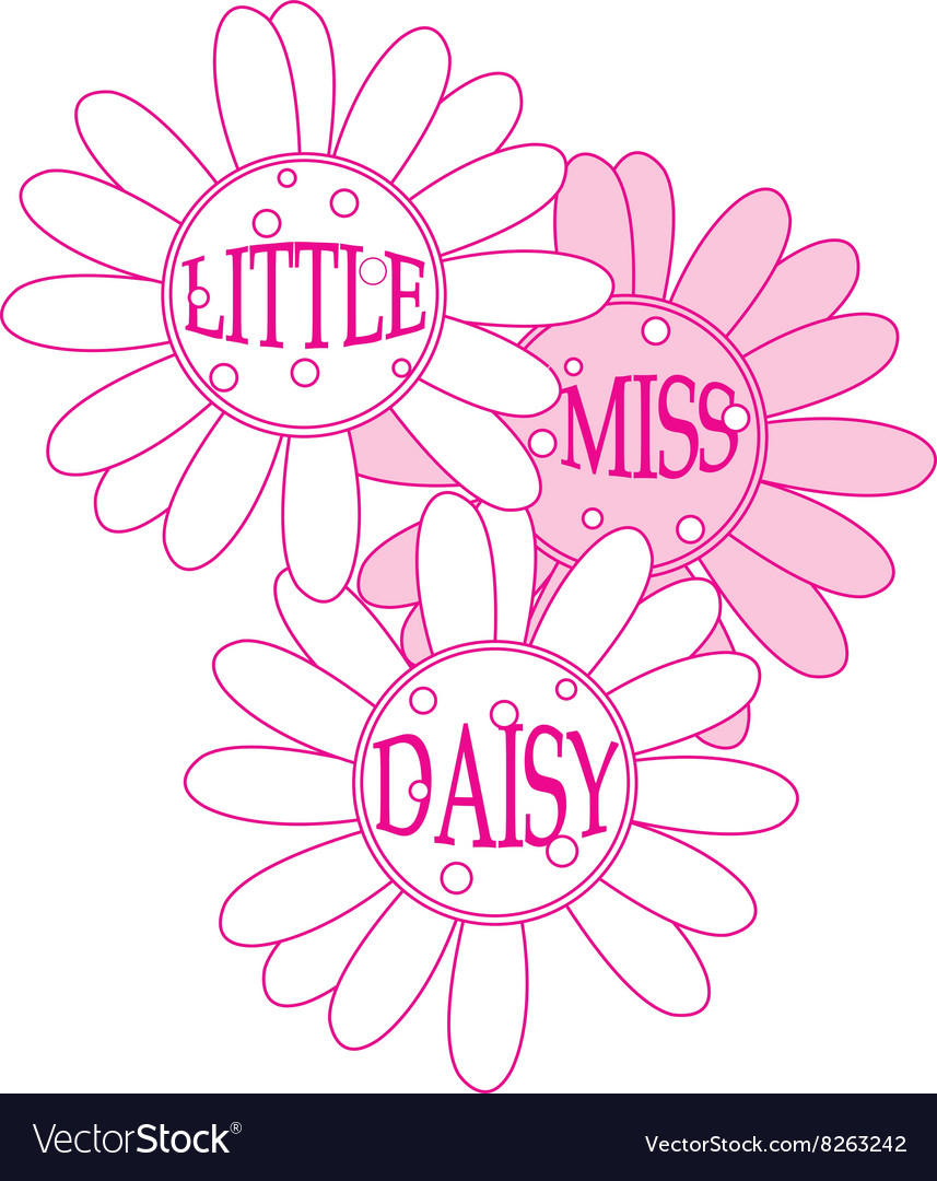 Little miss daisy vector