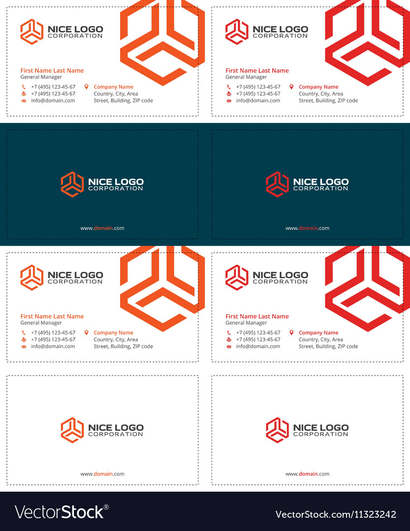 Trio business card 2 vector