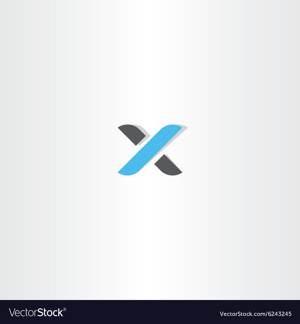 Logotype letter x logo icon vector