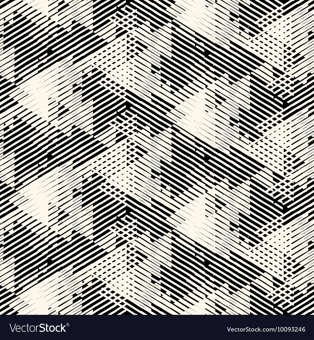 Geometric pattern with striped triangles vector
