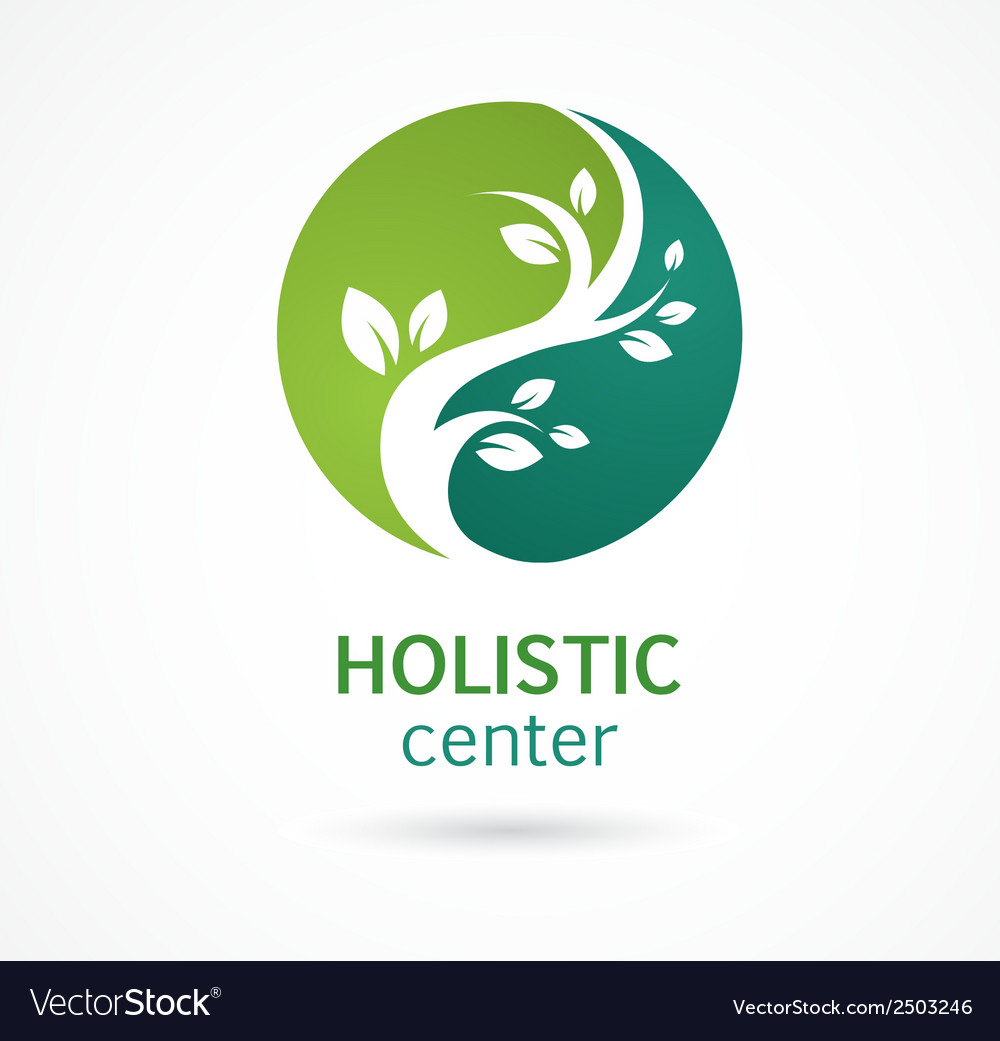 Natural alternative herbal medicine icon vector