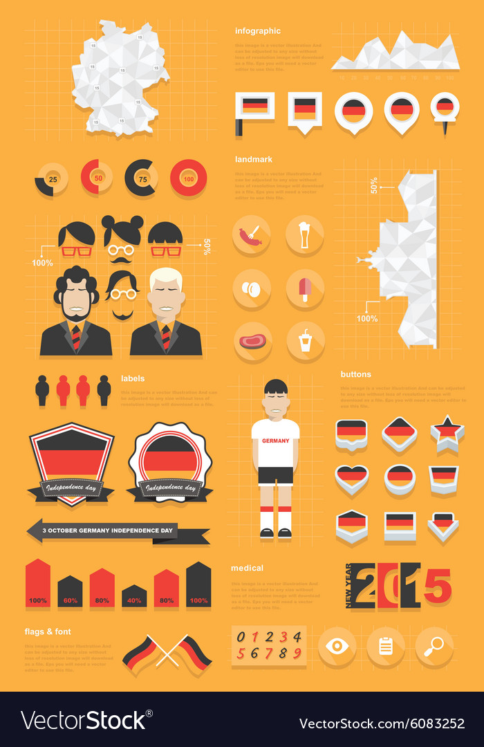 Germany infographic set vector