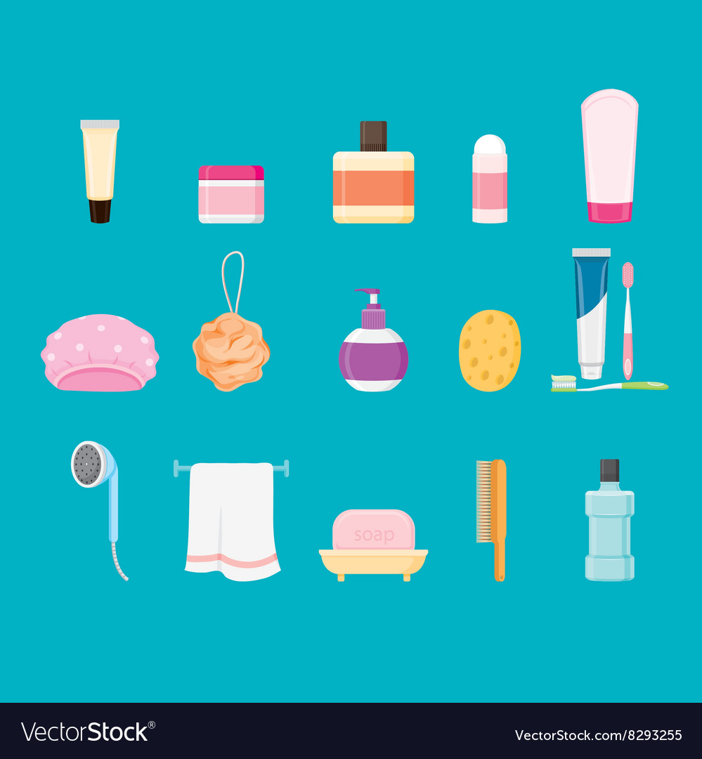 Bathroom equipments set vector