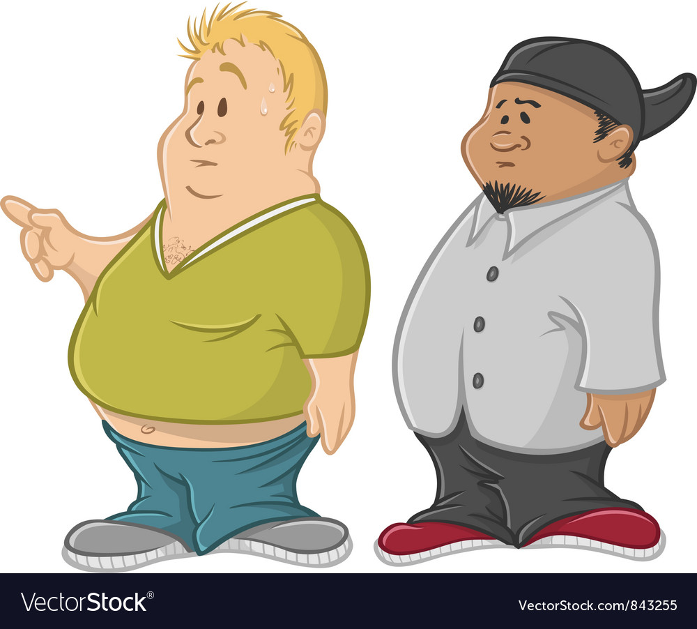 Fat guys vector