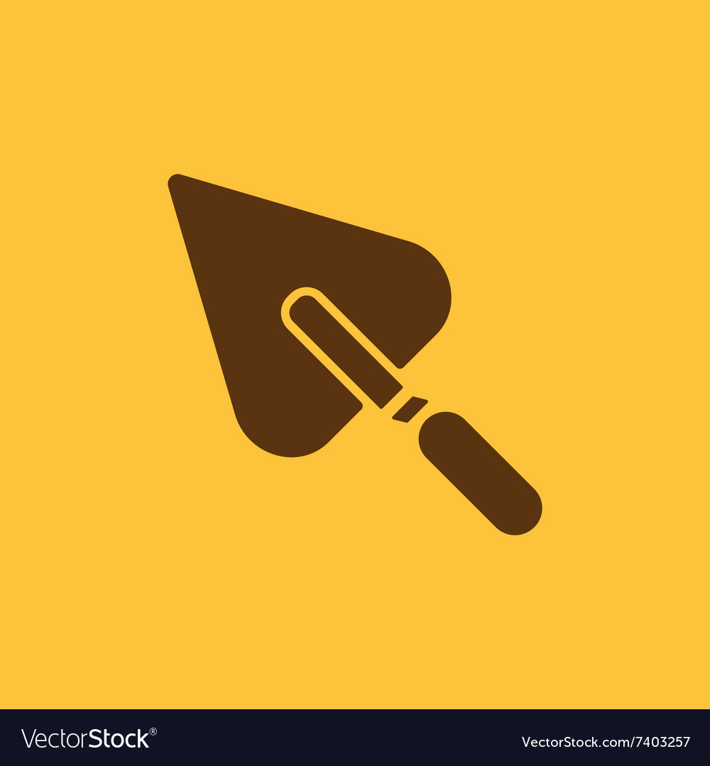 Trowel icon mason and building repair vector