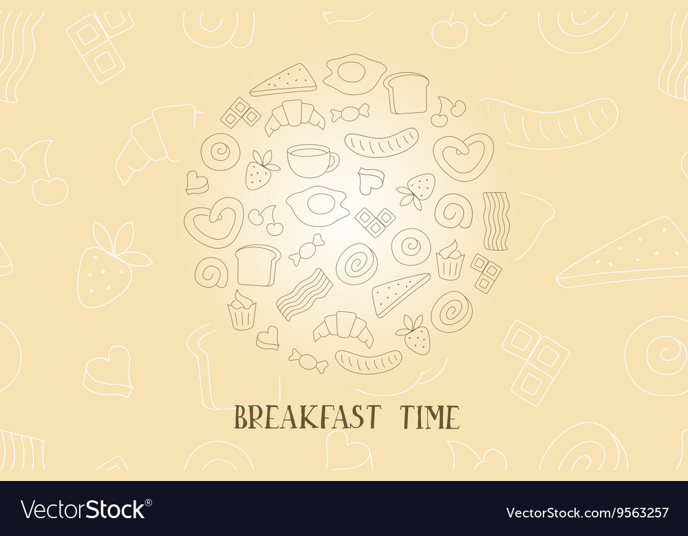 Vintage poster  breakfast vector