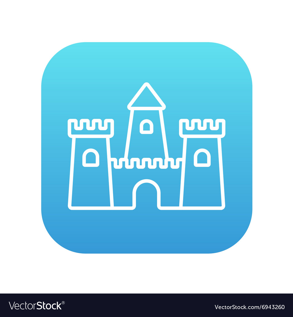 Sandcastle line icon vector