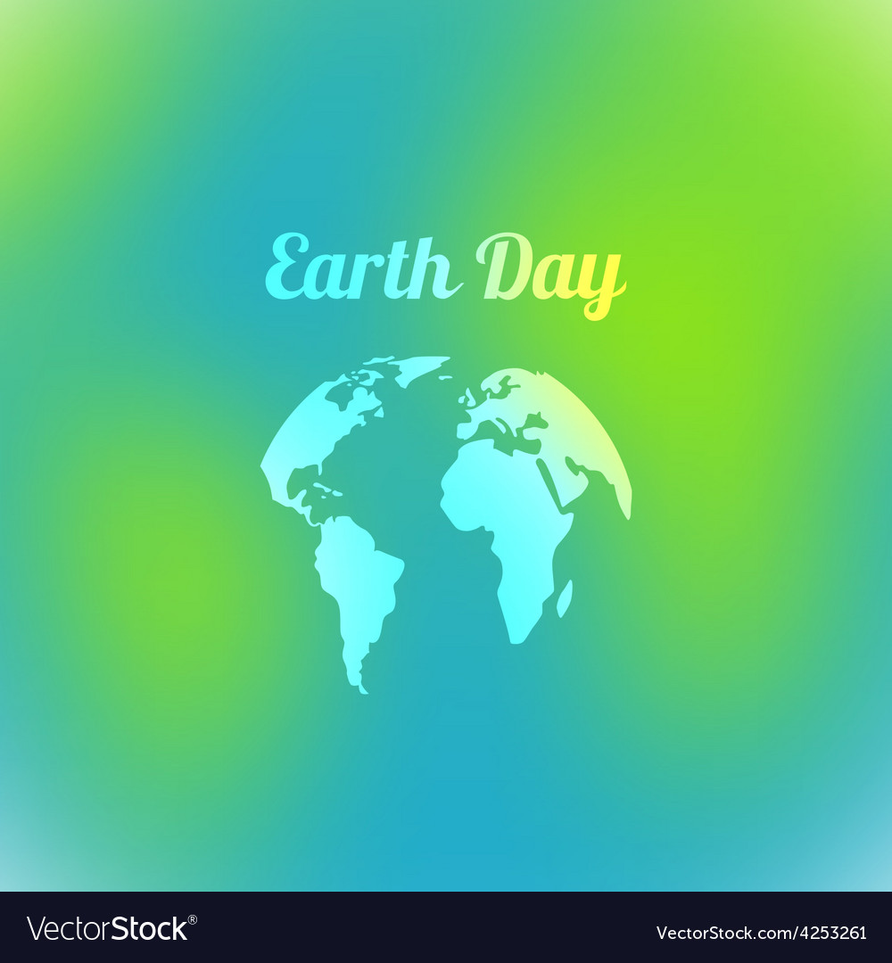Earth day in blue and green colors vector