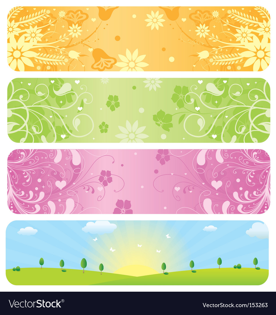 Website banners vector