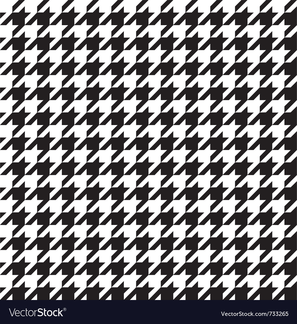 Classic houndstooth seamless vector