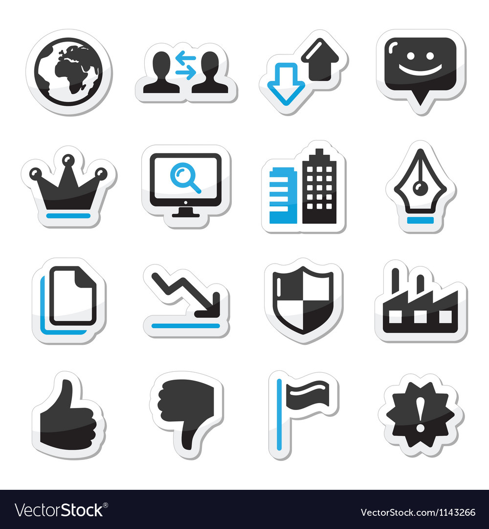 Web internet icons set  vector
