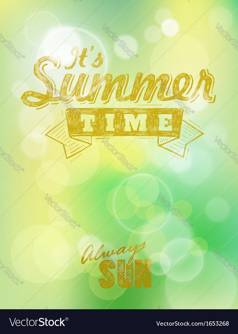 It summer time vector