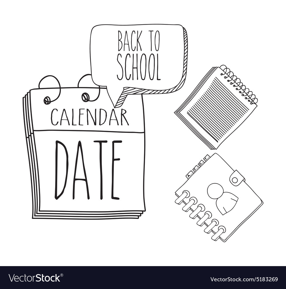 Back to school design vector