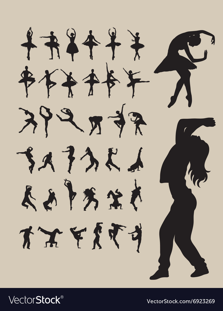 Ballerina and dance vector
