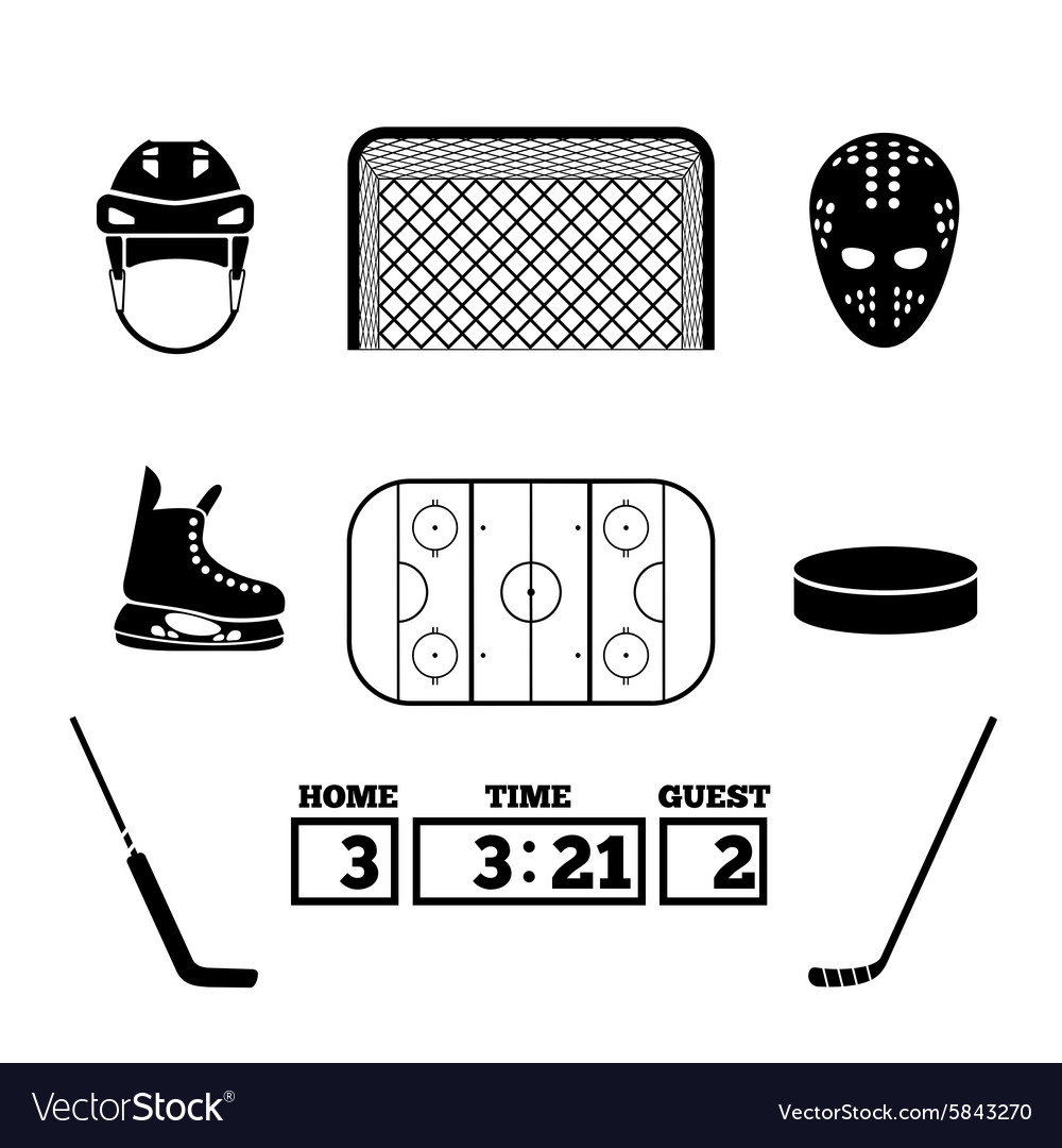 Hockey icons vector