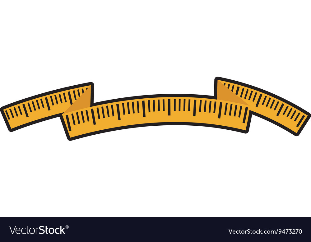 Tape measure icon meter design graphic vector