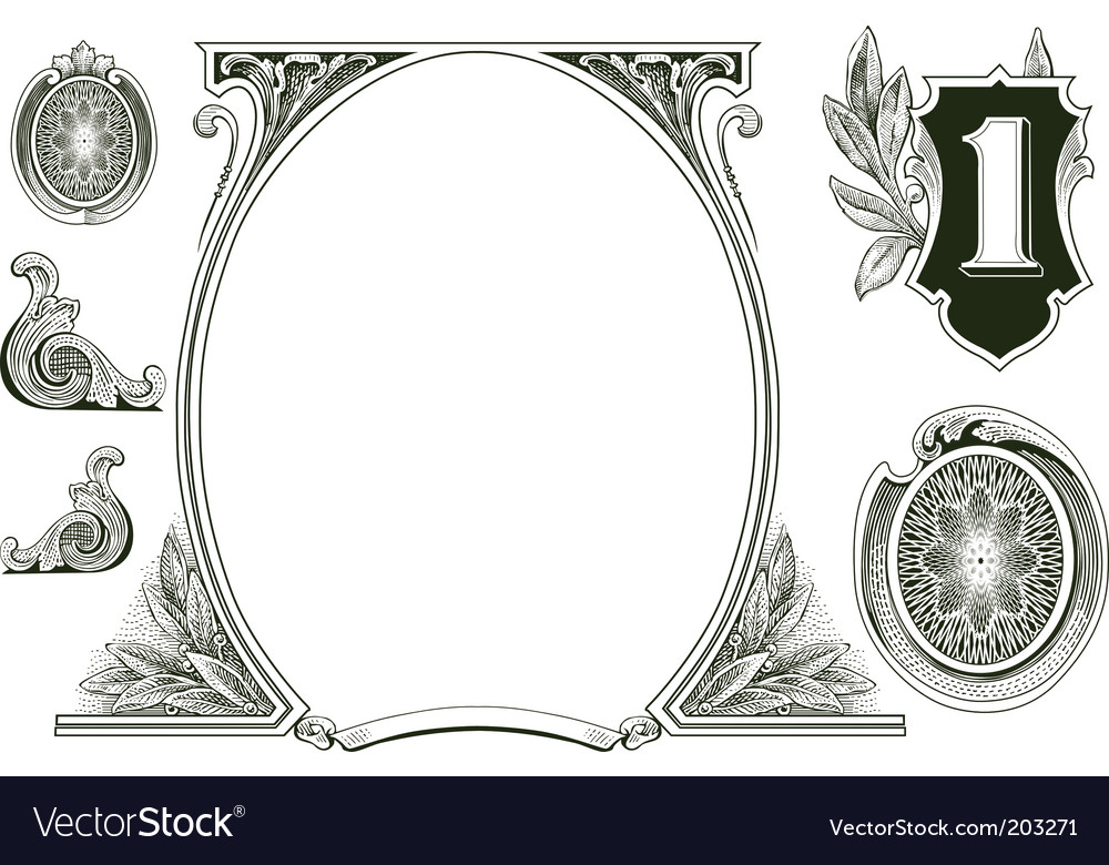 Money ornaments vector