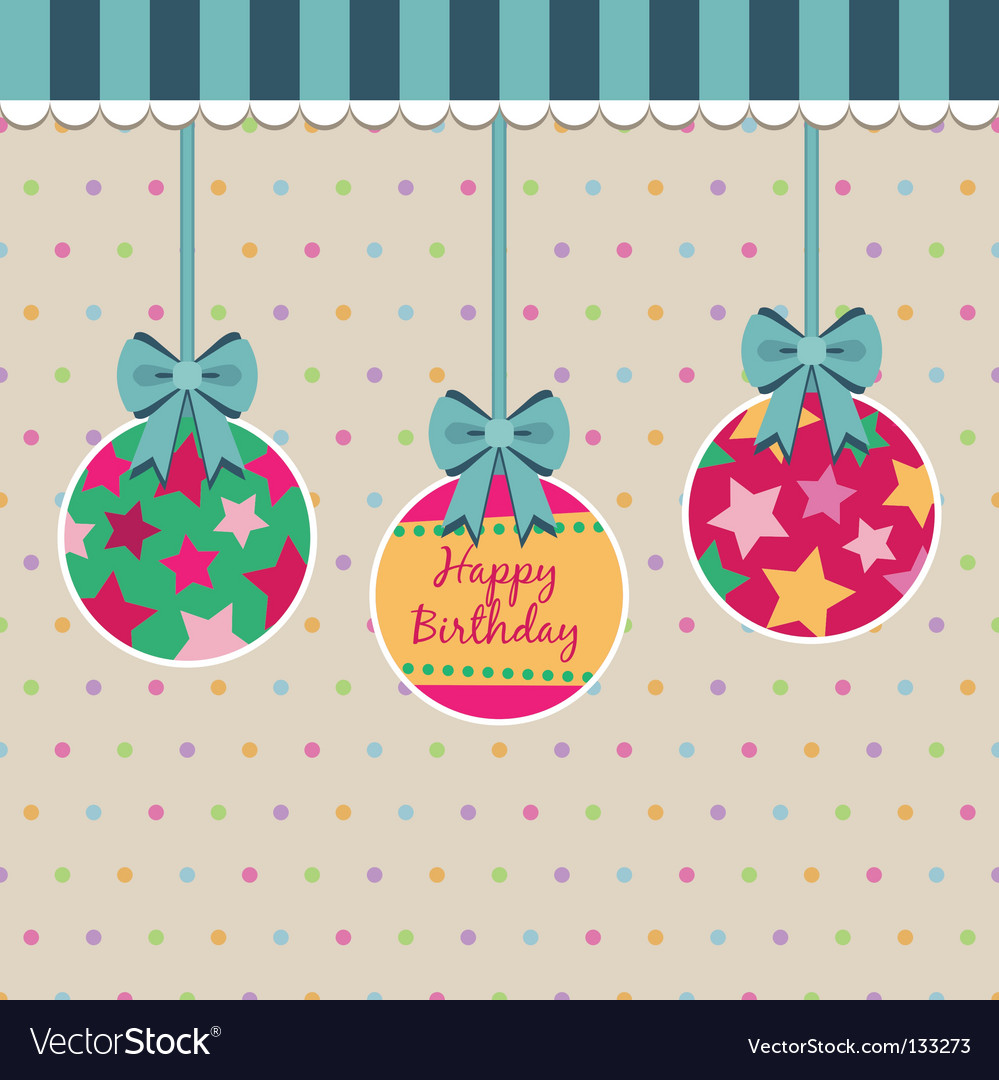 Polka dot birthday vector