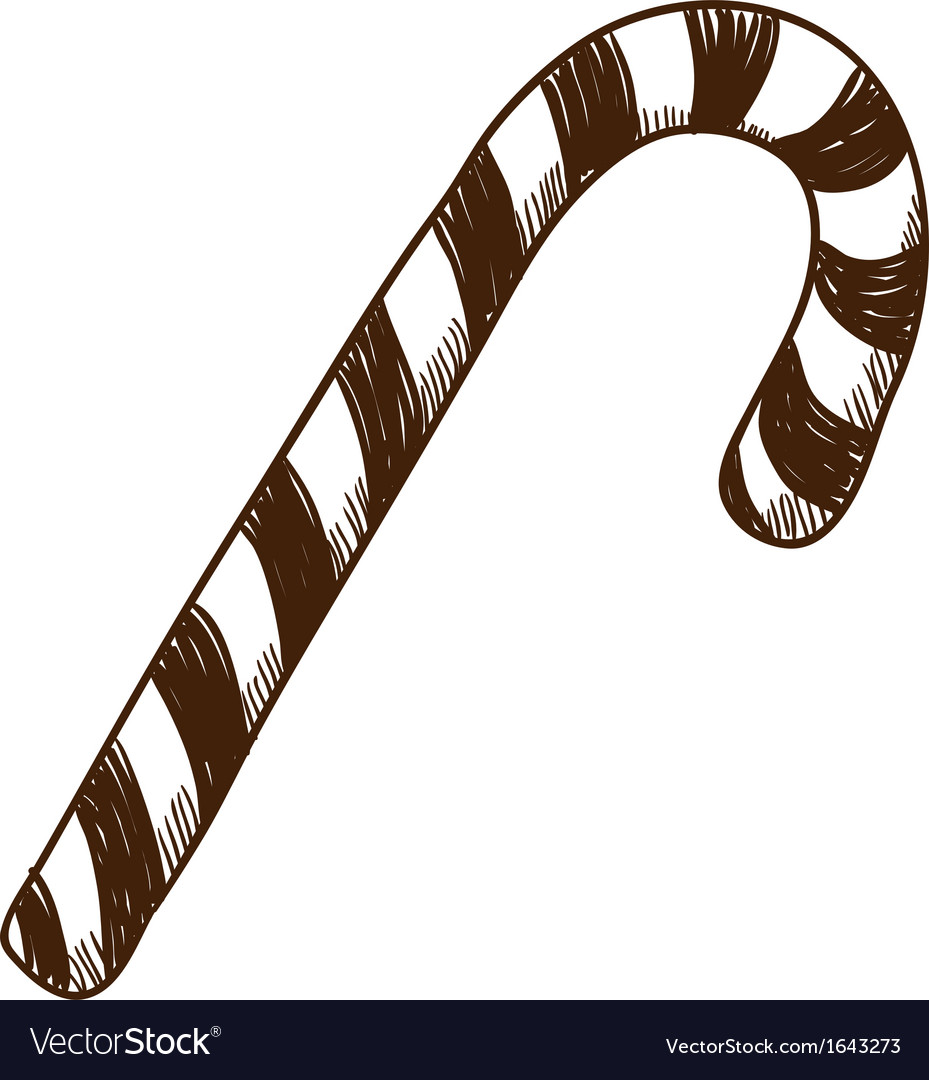 Sweet candy cane vector