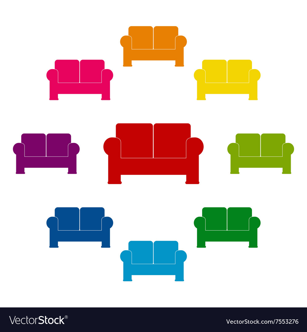 Colorfull icons set vector