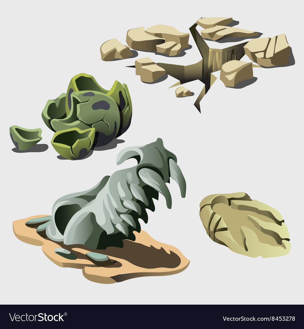 Remains of animal and prehistory elements vector