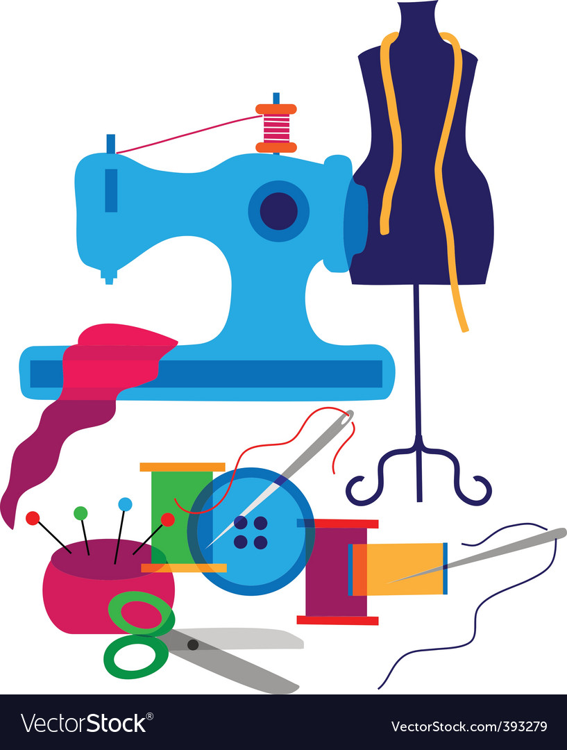 Sewing and textiles vector