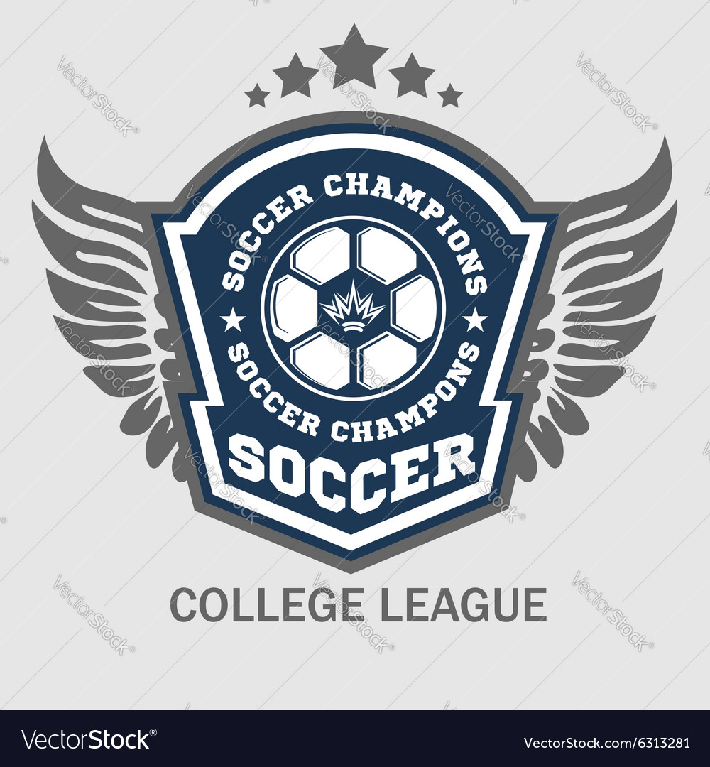 Soccer badge  emblem on light background vector
