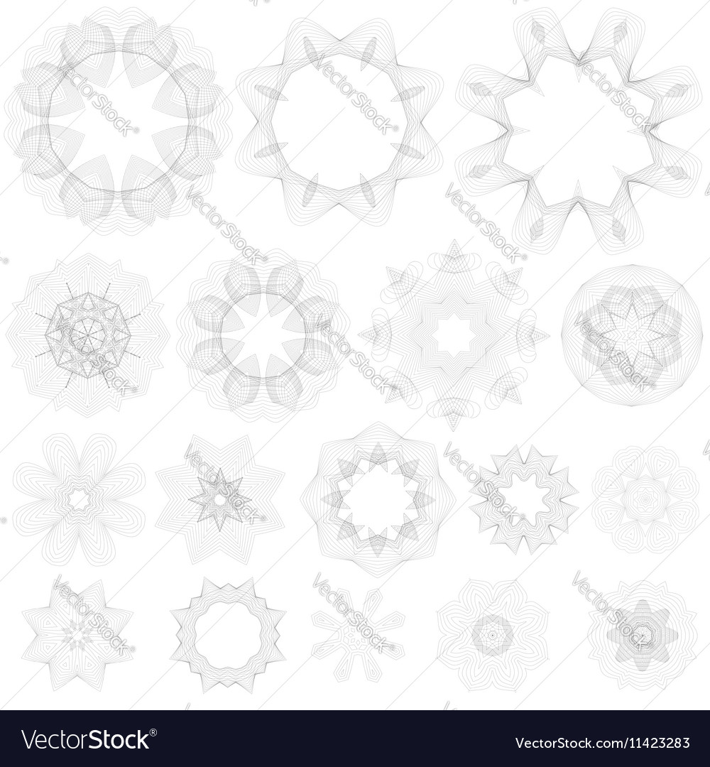 Creative rosettes collection vector