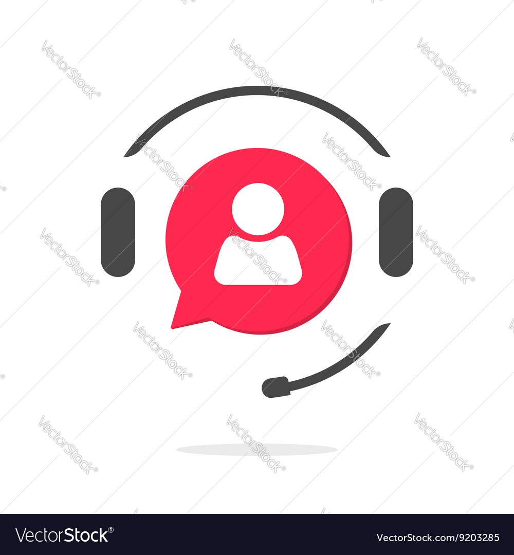 Customer support vecot icon phone assistant logo vector
