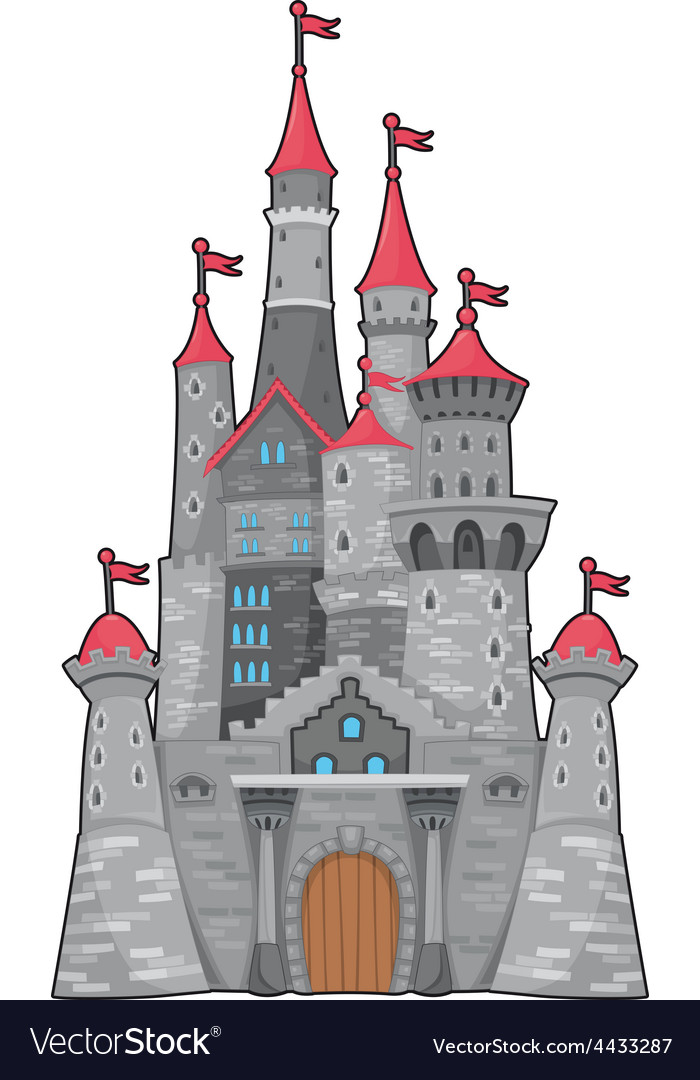 Medieval and fantasy castle vector