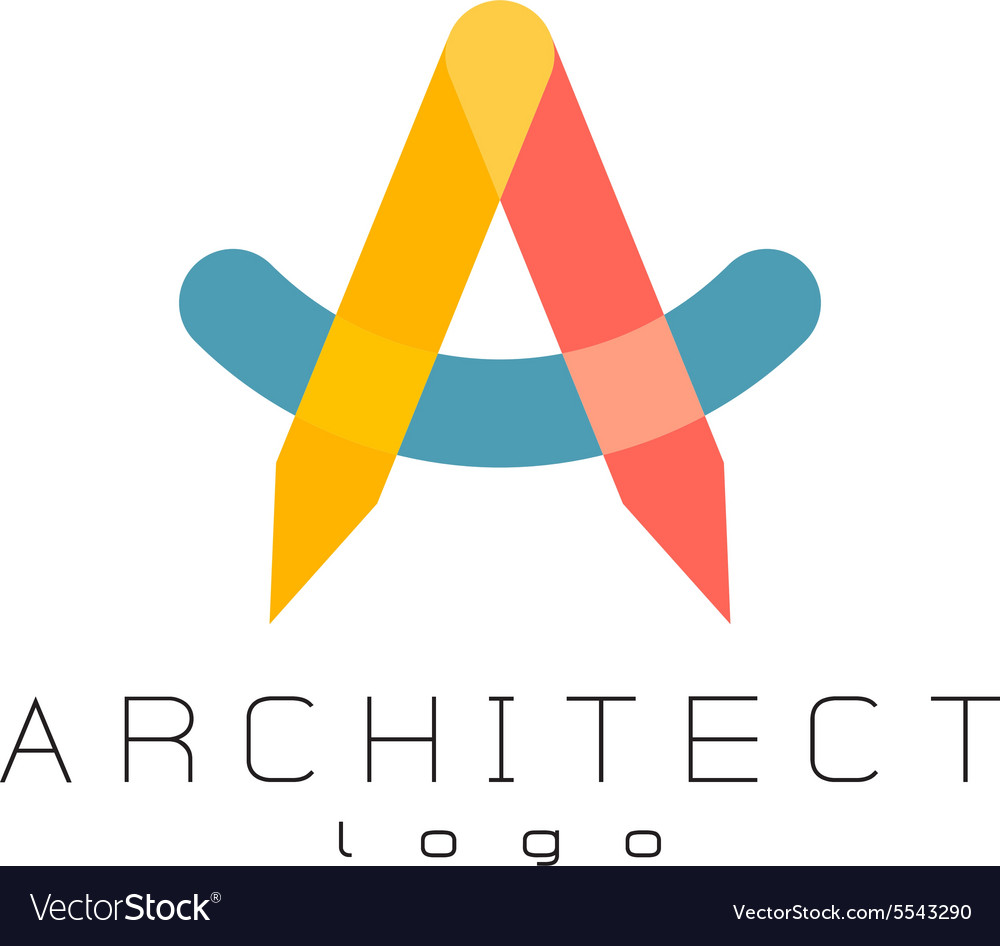 Letter a architect logo vector