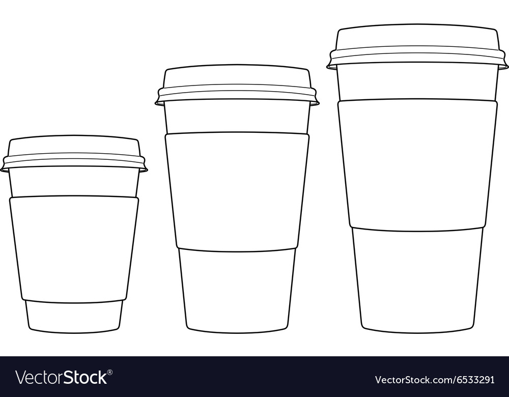 Coffee paper cups vector