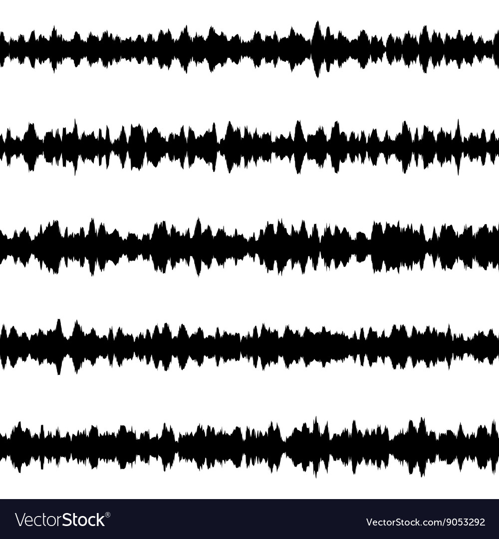 Black music sound waves eps 10 vector