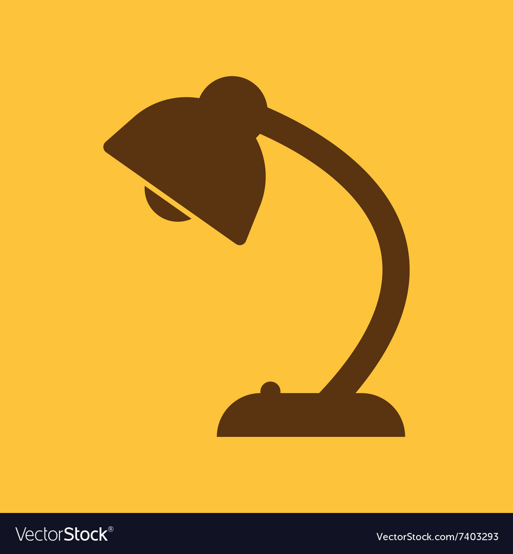 Table lamp icon readinglamp and lighting vector