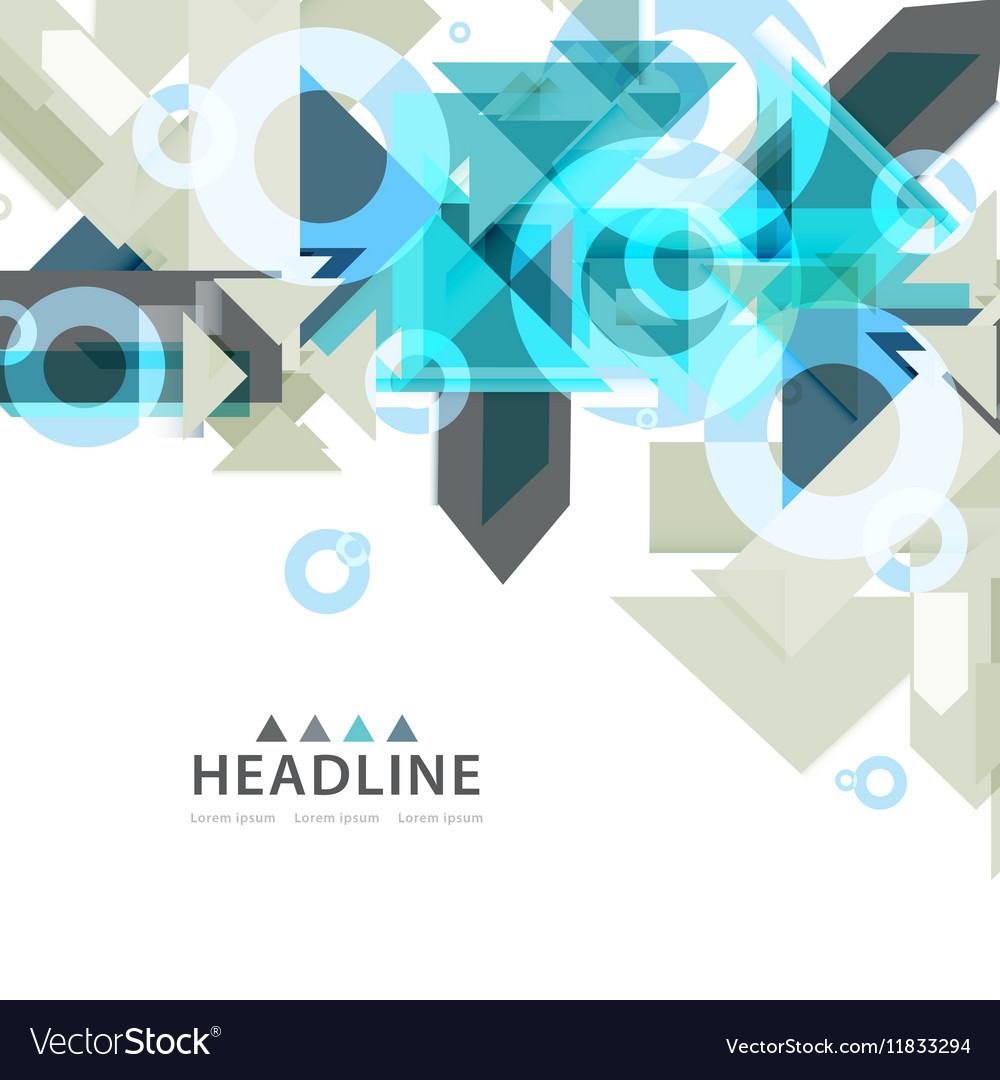 Brochure header layout vector