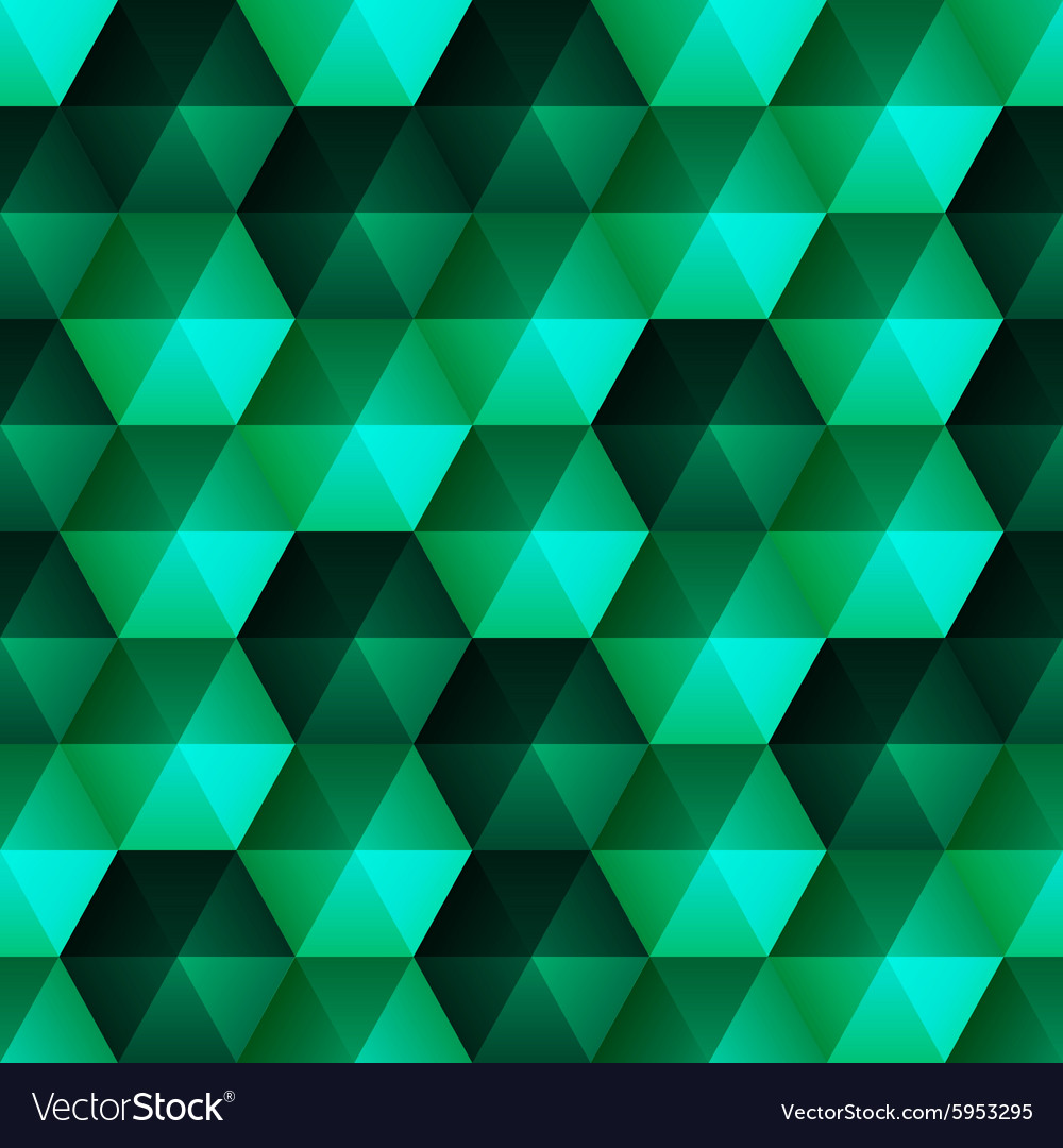 Relief emerald hexagons vector