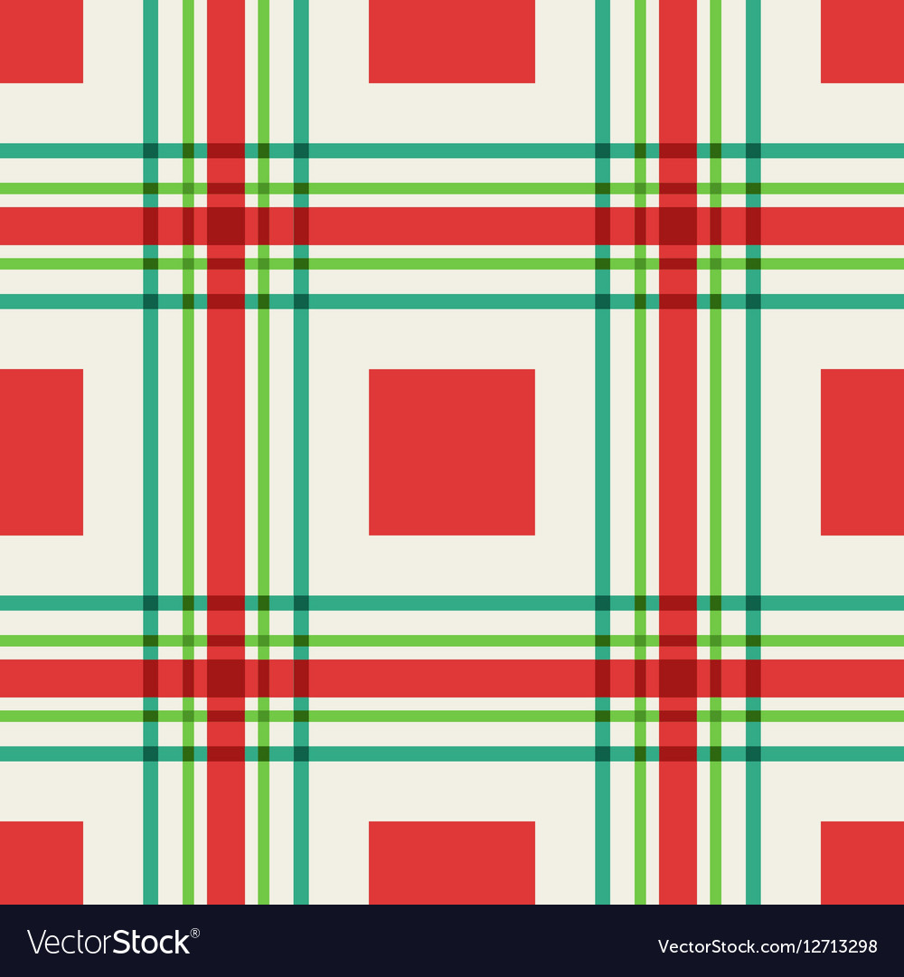 Seamless pattern of squares and lines vector