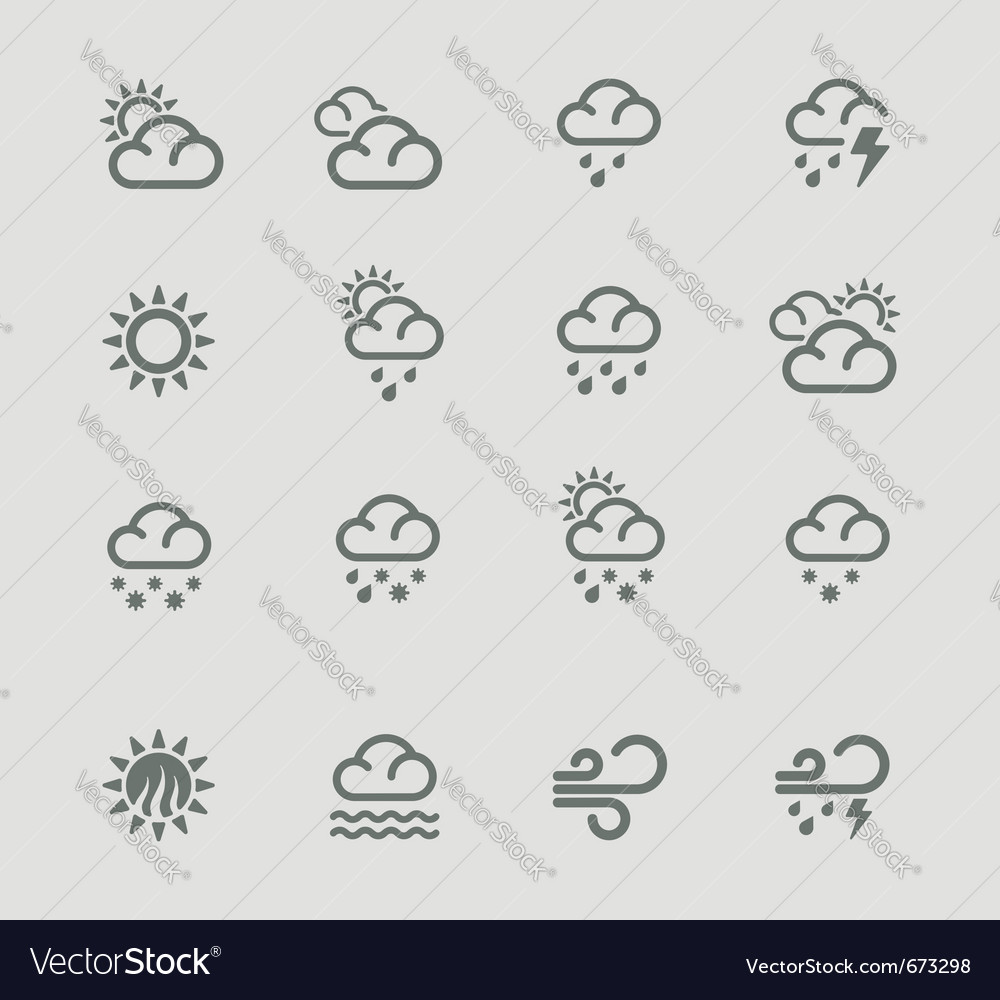 Weather forecast pictograms  day vector