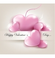 Valentins Day card with hearts vector image vector image